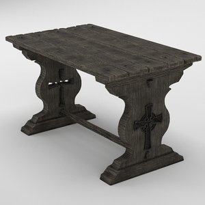 3D medieval table