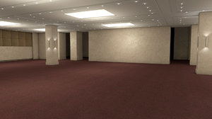 hotel conference hall 3D model