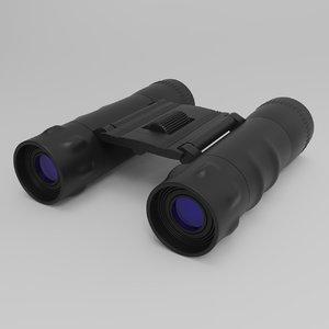 binoculars 12x25 3D model