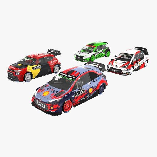 3D pack fia world rally model