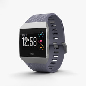 3D fitbit ionic silver