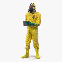 3D hazardous materials worker