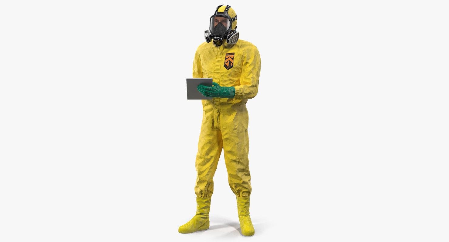 3D hazardous materials worker