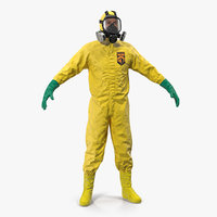 Hazmat Removal Worker Neutral Pose 3D Model