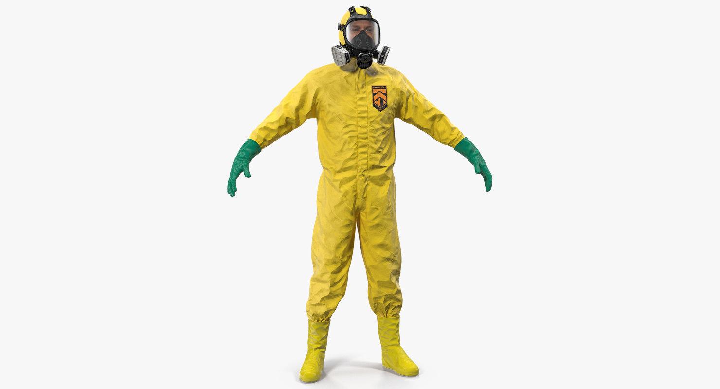 hazmat removal worker neutral 3D