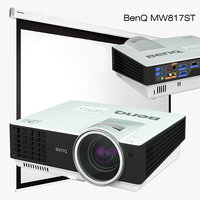 3D multimedia projector benq mw817st