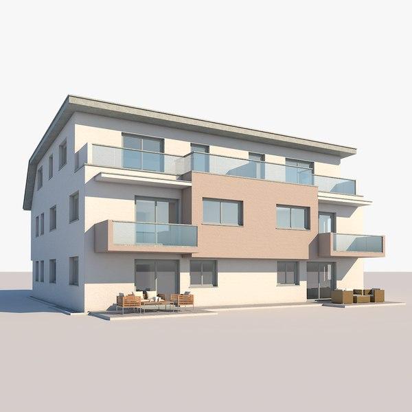 apartment building 3D model