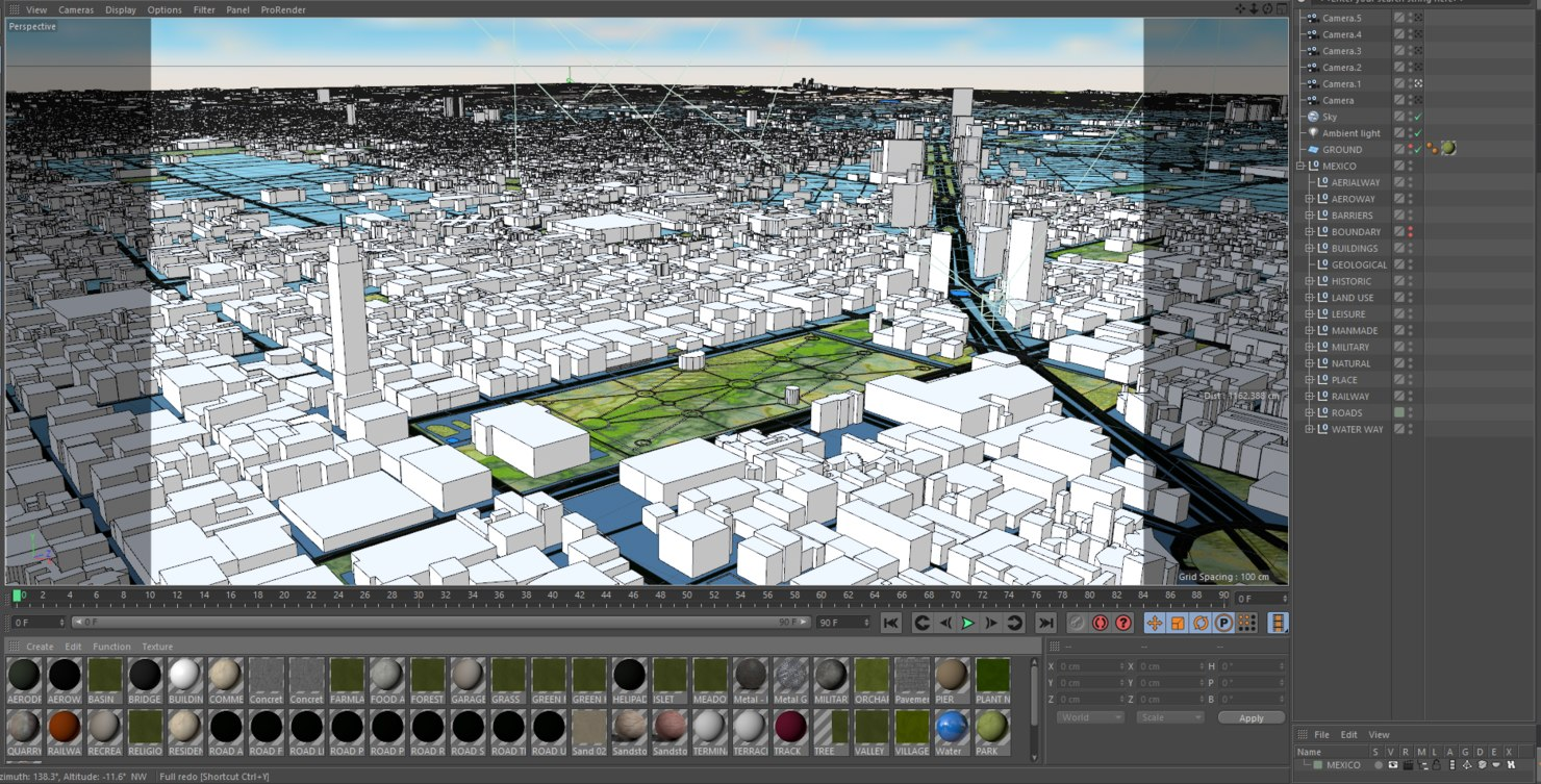 mexico city 3d model