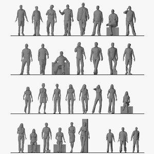3D style crowd model