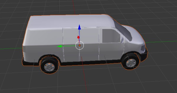cargo van 3D