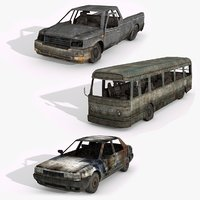 junkyard vol 1 vehicles 3D model