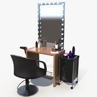 3D salon chair model