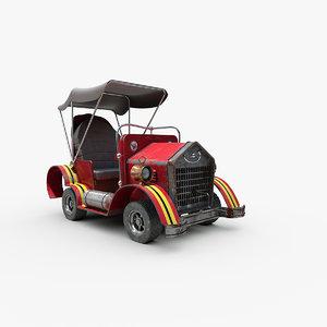 cartoon steampunk car 3D model