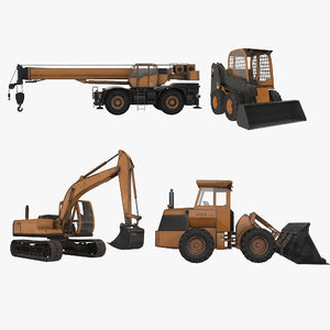 construction machinery pack loader 3D model