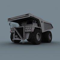 dump truck - vehicle animation 3D model