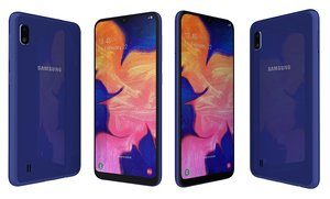 3D model samsung galaxy a10 blue