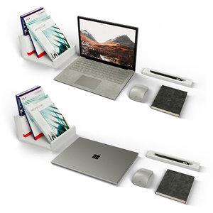 workplace office laptop 3D