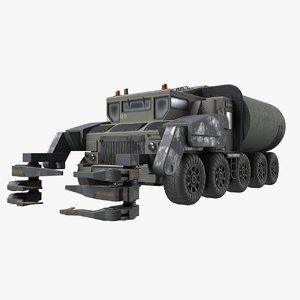 3D military truck model