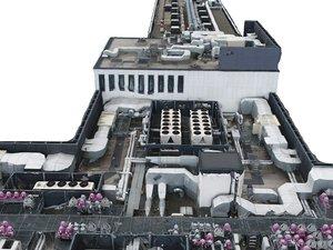 modern roof scan 16k 3D model