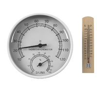 Thermometer & Thermo Hygrometer Sauna Set