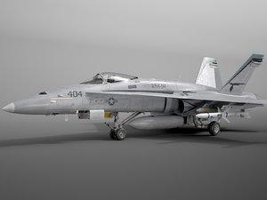 fa-18 mcdonnell douglas 3D