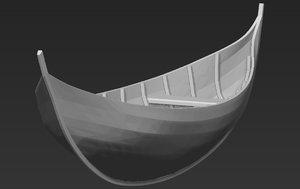 elven boat lothlorien lord 3D model