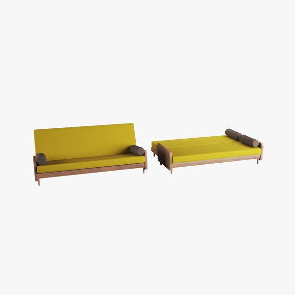 sofa bed 3D