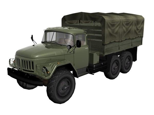 zil-131 low-poly soviet 3d model
