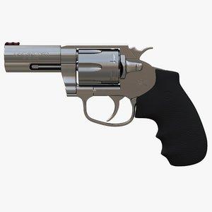 revolver colt king cobra 3D model