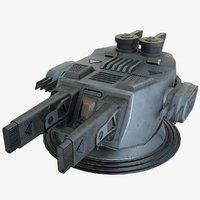 heavy plasma cannon 2 3D model