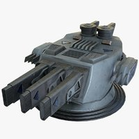 3D heavy plasma cannon sci-fi model