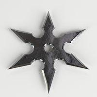 3D shuriken ninja star