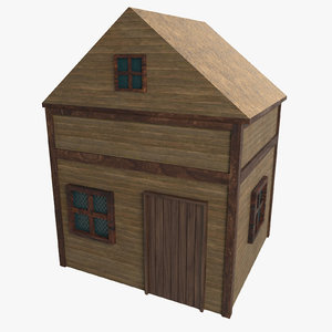 unreal old western house 3D model
