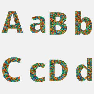 sans font alphabet 4 model
