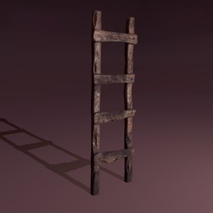 old dirty ladder 3D model