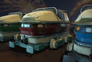 3D ready roller coaster carts model