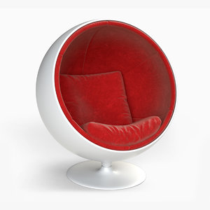 3D model ball chair furniture