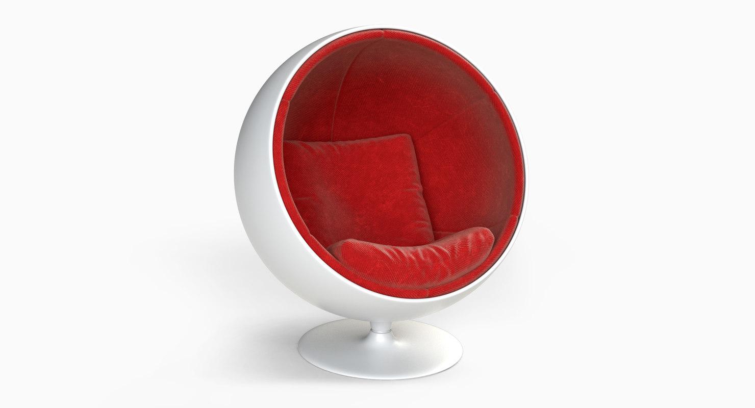 3D model ball chair furniture