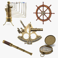 nautical decor vintage style 3D