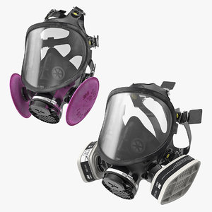 3D model respirators gas mask