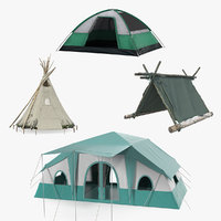 3D tents dome traditional model