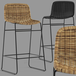 globewest olivia stool 3D model
