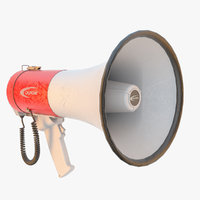 3D megaphone califone model