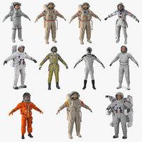 astronauts 6 3D model