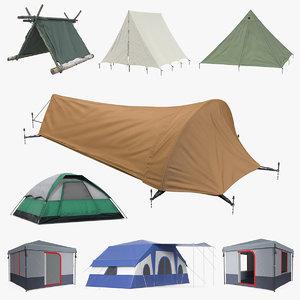 camping tents 4 3D model