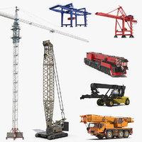 cranes 3 3D model
