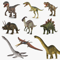 Dinosaurs 3D Models Collection 4