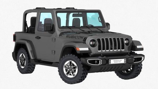 3D jeep wrangler rubicon 2019