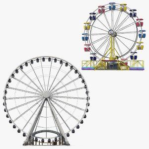 ferris wheels 3D model