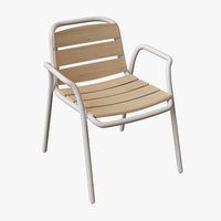 3D ethimo stitch dining armchair model